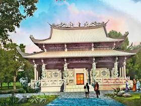 寺院石头大殿_古建筑石雕大雄宝殿图片